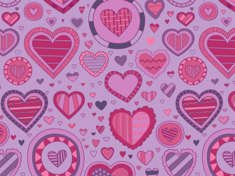 Novelty valentines day valentine heart novelty pattern print repeating radiantorchid radiant orchid