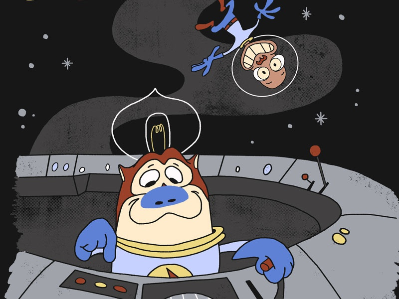 Space Cadets ren and stimpy threadless nickelodeon retro