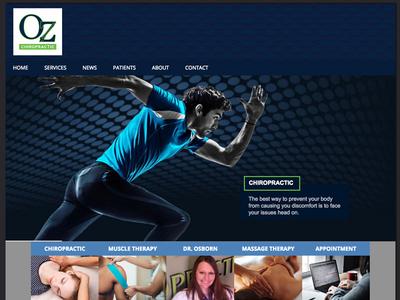 Re-Design Oz Chiropractic Website