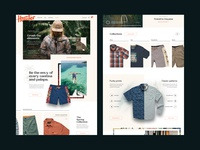 Howler Brothers apparel austin store ecommerce products homepage web interface website ui