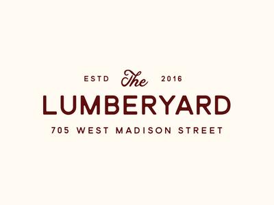 The Lumberyard handlettering vintage typography script logotype logo identity branding