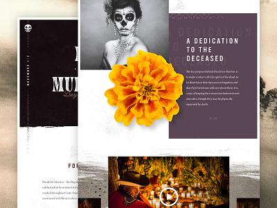 Día de los Muertos mexico website interface ui skeleton skulls day of the dead dia de los muertos halloween mocktober