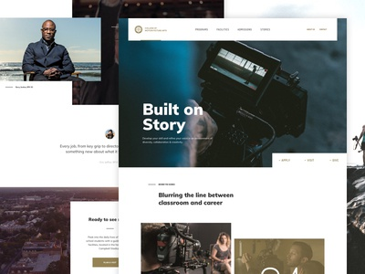 The Film School grid education school fsu video hero interface ui website