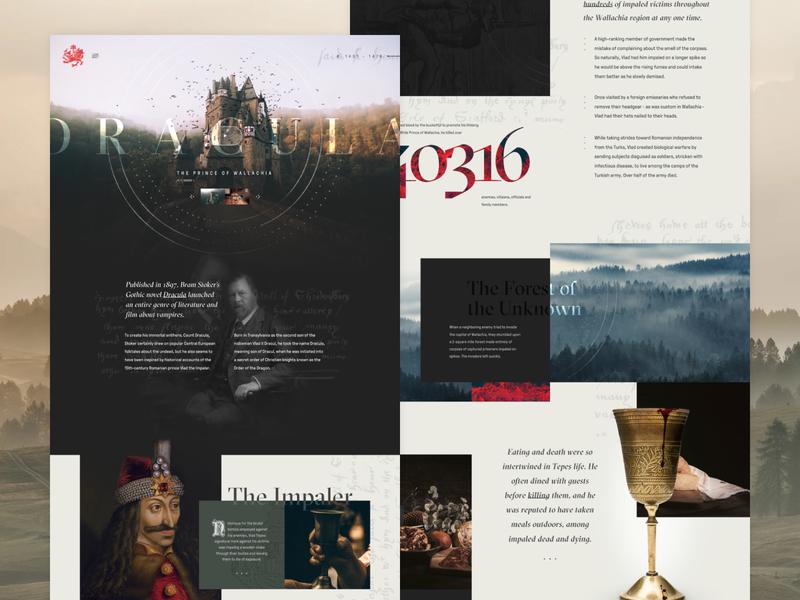The Real Dracula impale castle website ui interface dracula halloween mocktober