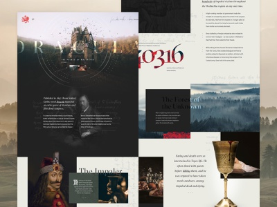 The Real Dracula impale castle website ui interface dracula halloween mocktober