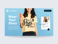 The New Real Thread homepage webflow principle ecommerce shirts prototype motion products hero web interface website ui