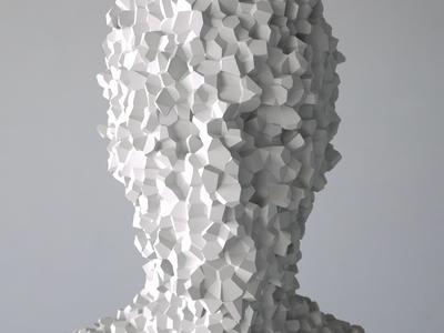 Intangible   Voronoi Array [17.06.05] illustration installation animation design sculpture art render cg 3d zbrush octane houdini