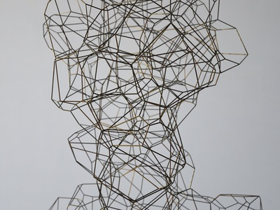 Intangible   Voronoi Wire [17.06.06] illustration installation animation design sculpture art render cg 3d zbrush octane houdini