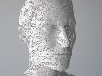 Intangible   Sticky Wires [17.06.08] illustration installation animation design sculpture art render cg 3d zbrush octane houdini
