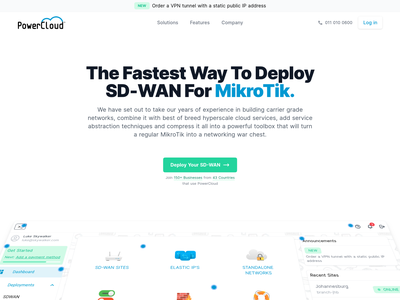 Powercloud draft design demo perspective scroll animation landing page