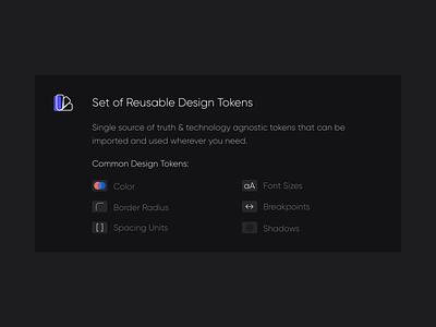 Design Tokens design tokens design system
