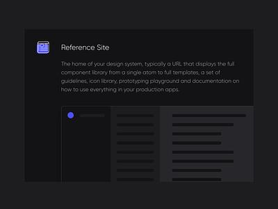 Reference Site documentation design system