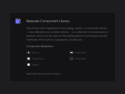 Atomic Components atomic components design system