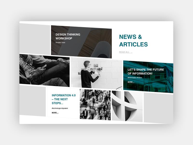 Conference News & Articles webdesign web news conferences minimal grey light typography design