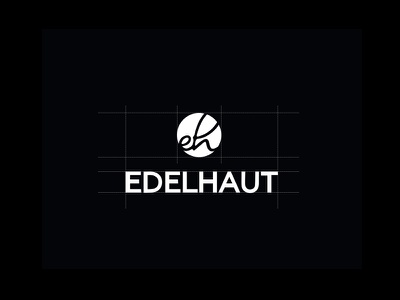 EDELHAUT logo typography. black white leather brand design logo branding