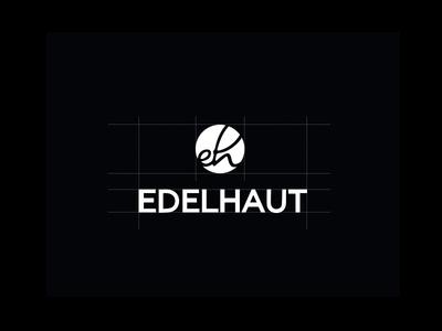 EDELHAUT logo typography. black white leather brand design logo branding