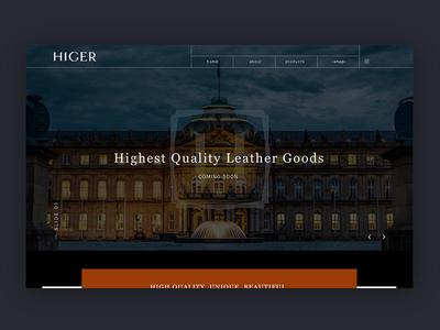 HIGER Web WIP wip minimal clean webdesign web landing website