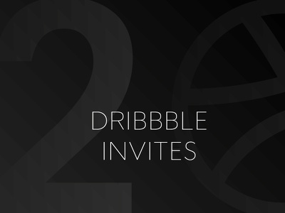 2x dribbble Invites design black minimal clean graphic invitation icon invites digital dribbble