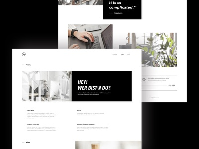 Portfolio WIP web website design clean minimal portfolio web design