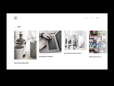 Portfolio WIP News Page news blog web website design clean minimal portfolio web design