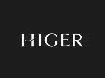 HIGER unused logo drafts leather goods brand minimal design typography black branding clean logo