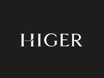 HIGER unused logo drafts leather goods brand minimal design typography black branding clean logo