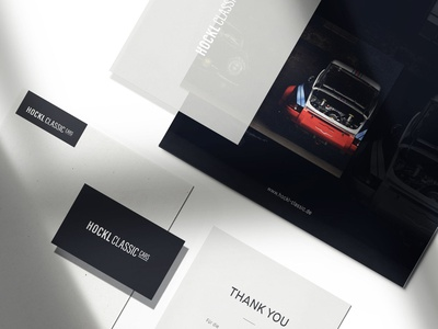 Hockl Classic Cars Corporate Design webdesign illustration visual design businesscards print logodesign logotype black logo typography branding minimal clean design