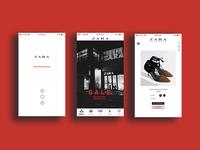 a mobile interface redesign for zara