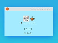 a web redesign for providence small point cafe