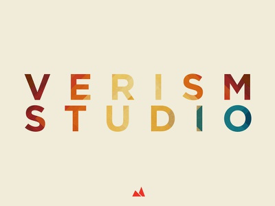 Verism Studio branding logo identity logotype symbol texture type