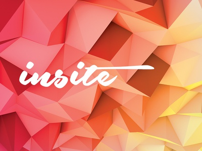 insite brand script experiment poly polygon type logo logotype