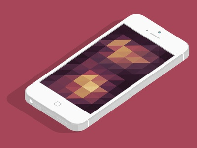 Background 2.1 purple yellow orange red hexagon triangle shapes flat simplicity