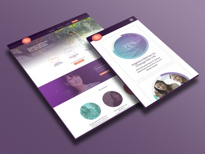 Live Your Dream purple responsive website women helping non-profit