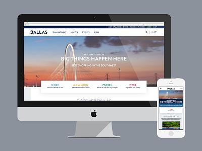 Visit Dallas texas website tourism responsive visitors convention dallas