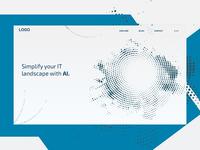 AI company Landing page