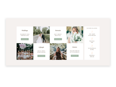 Website for Bloggers wedding template custom design about page website photographers layout design typography showit web design