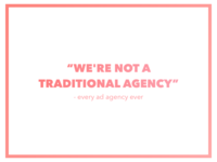 Traditional Agency