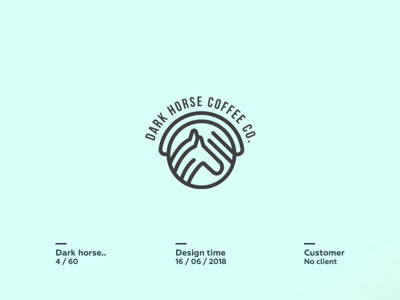Dark Horse Coffee Co. sheep  sketch  space pencil negative logo lamb icon cute circle animal