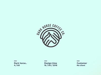 Dark Horse Coffee Co. sheep  sketch  space pencil negative logo lamb icon cute circle animal