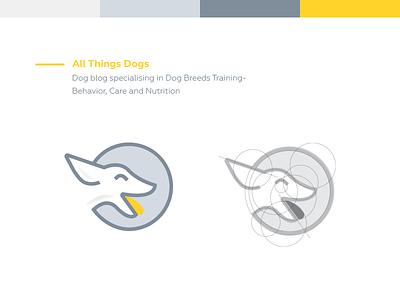 Dog Logo | All Things Dogs sheep  sketch  space pencil negative logo lamb icon cute circle animal