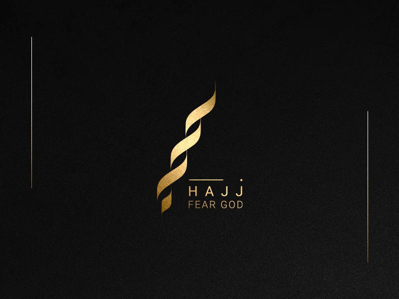 Hajj Arabic Logo animation animal ux giveaway fashion arabic logos lamb cute icon pencil ui logos vector design sheep  sketch  space identity brand typography negative illustration
