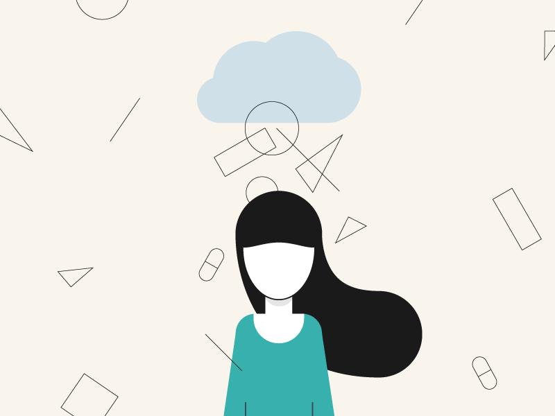 Mental Health illustration anxiety salud mental wellness design mental health illustration