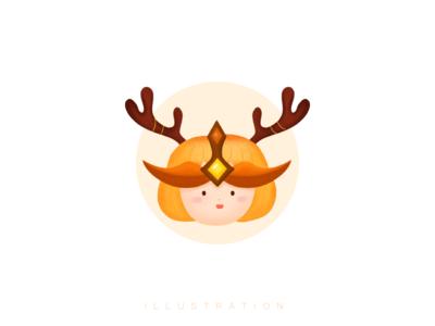 Antler pumpkin head