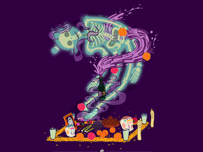 Calaca illustration vector doodle infografia illustrator