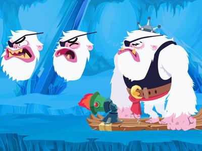 Background Snow Cueva Rajdu gamedesign vector character design doodle illustration