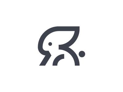 R Letter Rabbit By Angel Veselinov Dribbble
