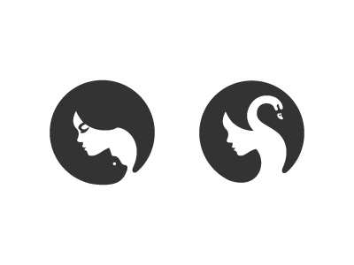 Girl Silhouette With Two Variations