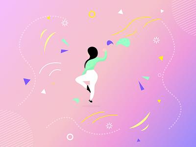 Fitness Women Illustration minimal vector colors sketch ui ui design design beautiful illustration clean