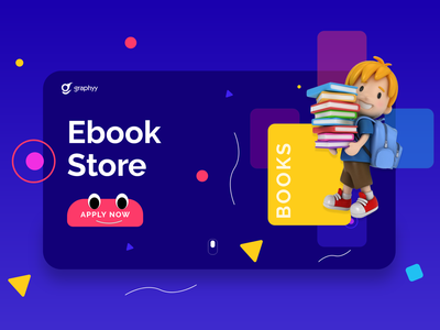 Ebook Store by graphyy minimal colors ui ux ui design vector beautiful ux design illustration clean