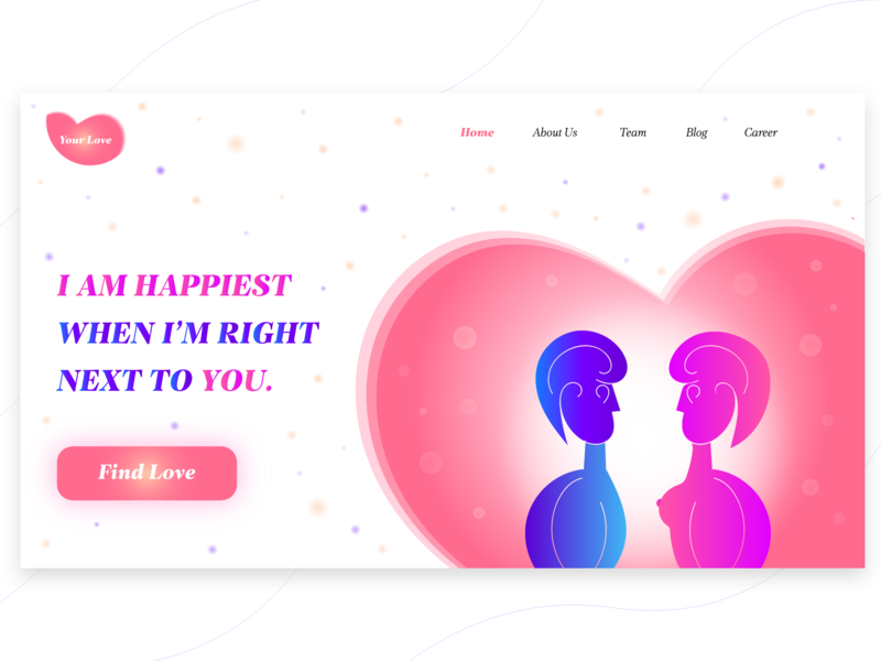 Find your love vector ui ux website web clean  creative minimal interface logo graphic design flat digital drawing concept clean charachter branding brand art illustration